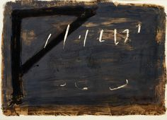 Antoni Tapies. Not really gray and white, yet enriches the concept.