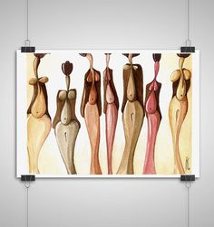 A humorous beauty contest watercolor painting Giclee print, available in 2 sizes