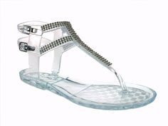 Women's Wild Diva T-Strap Jelly Fashion Sandals Joanie-02 Clear