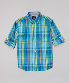 Look what I found on #zulily! Nautica Sea Blue Button-Up - Infant, Toddler & Boys by Nautica #zulilyfinds