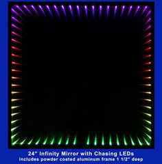 Infinity Mirror Displays and Infinity Mirror Tables Led Infinity Mirror, Two Way Mirror, Mirror Video, Beautiful Mirrors, Mirror With Lights, Home Projects, Tables, Ceiling Lamps, Display