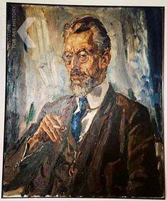 Portret in olieverf van Willem Coenraad Brouwer door Jan Sluijters 01-10-1926 Laszlo Moholy Nagy, Marc Chagall, 19th Century, Painting, Artists, Image, Seeds, Painting Art, Paintings