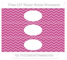 Free Mulberry Purple Chevron DIY Water Bottle Wrappers