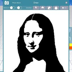 Thanks Alice @monalisaliveshere for your kind words about Morphi, especially our enhanced draw tool. Here's a tribute to your favorite #MonaLisa made in Morphi's Draw tool using the PhotoAlbum button. #teacher #student #3Dprinting #3dprinter #3ddesign #3dmodel #art #design #create #creativity #draw #photoalbum #Leonardo #leonardodavinci #louvre #lagioconda #davinci #draw #stencil
