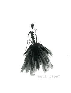 Fashion Illustration by SoulPaperArt on Etsy