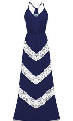 Chevron Lace Maxi Dress..LOVE