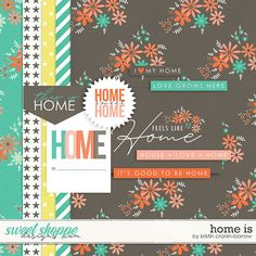 Quality DigiScrap Freebies: Home Is... mini kit freebie from Kristin Cronin-Barrow