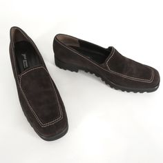 63cbde10f59 Paul Green Munchen Loafers 8.5 US 6 UK Brown Suede Vibram Sole Slip On Shoes