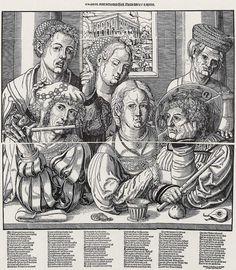 Artist: Breu, Jörg d. Ä., Title: Der verlorene Sohn, Date: ca. 1530 Renaissance Clothing, Renaissance Fashion, German Outfit, Hair Nets, 16th Century, Archaeology, Dutch, Sculptures, Objects