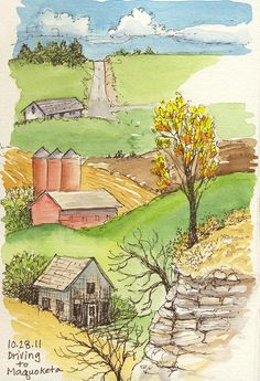 Pen and ink with watercolor= Elizabeth Smith - art journal inspiration