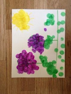 however Ella needs NO help in the language department. This was an activity was originally pinned by a speech therapist. Toddler Painting Activities, Craft Activities For Toddlers, Spring Activities, Toddler Preschool, Toddler Crafts, Preschool Activities, Spring Art, Spring Crafts, Toddler Art