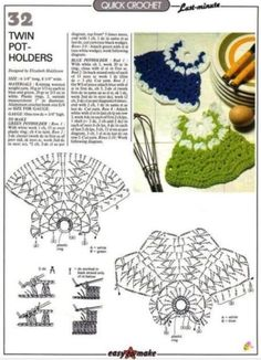 Magic Crochet n° 39 - leila tkd - Picasa Web AlbumsCrochet twin pot holders ♥️LCKD-MRS♥️ with diagrams,Christmas Crochet Patterns Part 8 - Beautiful Crochet Patterns and Knitting Patterns Crochet Motifs, Crochet Potholders, Crochet Diagram, Crochet Chart, Crochet Stitches, Beau Crochet, Quick Crochet, Crochet Home, Knit Crochet