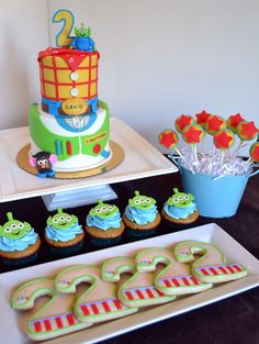 Disney Toy Story Birthday Party Dessert Table