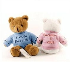 http://www.gotobaby.com/ – Be creative and select a personalized baby bears at Go To Baby with all sorts of good stuff like the birthday, first and middle name.