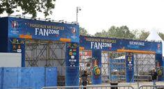 Fan zone de Bordeaux - Football 2016 - Réalisation Drapeaux Dejean Marine