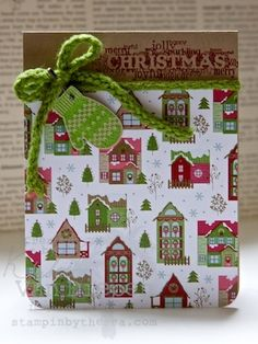 Christmas Card by gay - great use of pretty pattern paper