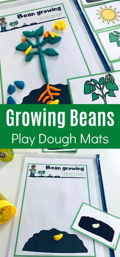 A simple and fun play dough activity for explaining what a seed goes through when it gets planted. This includes the free printables as well. Playdough Activities, Preschool Science, Preschool Learning, Learning Activities, Teaching, Spring Activities, Hands On Activities, Craft Activities For Kids, Preschool Ideas