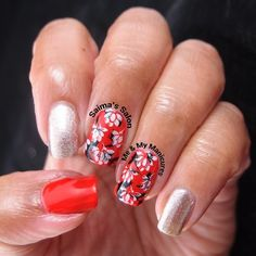 """""""My Manicure: Double Stamp  Tonight I'm wearing red and gold, And double stamped, oh I'm so bold, As if once wasn't good enough, I stamped again, it wasn't…"""""""