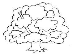 boom met takken kleurplaat - Google zoeken