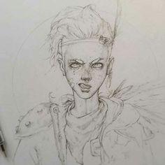 """Tim von Rueden - Vonn sketch 8.26.15 """"Uvaha"""""""