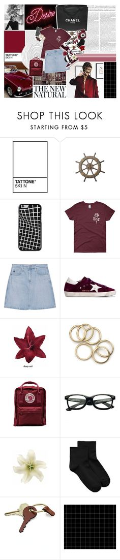 """""""TELL YOU ALL MY BEST LIES."""" by melcdrama ❤ liked on Polyvore featuring Chanel, AG Adriano Goldschmied, Golden Goose, Clips, Fjällräven, Polaroid, Marc by Marc Jacobs, HUE and Crate and Barrel"""