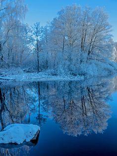 winter Perfect Reflection by Robert Pothorcki on 500px #reflection