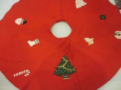 Vintage Christmas Tree Skirt by MemphisNanney on Etsy, $18.50