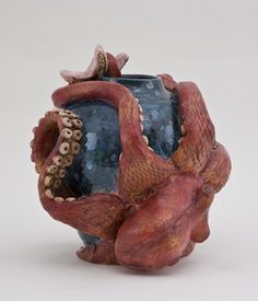 Octopus Sculpture with Starfish
