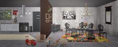 #kitchen #dinningroom #blackandwhite #colours #pop