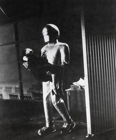 """""""The Day the Earth Stood Still"""" - Gort (Lock Martin) carries Helen Benson (Patricia Neal) to the ship. Patricia Neal, Creature Feature, Be Still, Sci Fi, Concert, Robot, Characters, Earth, Ship"""
