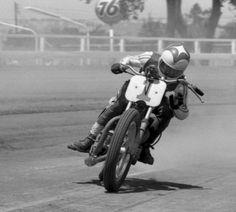 """Gary Nixon #1 - Triumph Flat tracker.  Where """"drifting"""" was born!"""