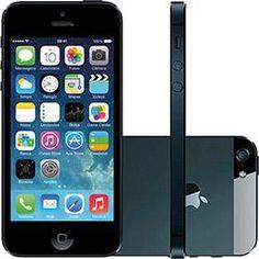 foto  USADO  iPhone 5 16GB Preto iOS 7 3G Câmera 8MP - Apple Iphone c7ff7e390f