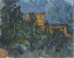 Fl 5 After settling in Aix, France, in 1899, Cézanne ventured daily into the surrounding Provencal landscape in search of subjects to paint. Chateau Noir, a recently constructed neo-Gothic castle designed to mimic aged ruins, captivated him. He repeatedly represented this structure and also painted from its grounds, where he had an unobstructed view of nearby Mont Sainte-Victoire. As is typical of landscapes executed late in his career, Cćzanne applied thick paint in broad...