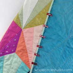 Day 148: 365 Days of Handwork Challenge — Moving along on this binding! Whole Circle Studio — 365 Days of Handwork Challenges