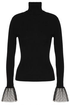 Red Valentino Damen Rollkragenpullover Schwarz | SAILERstyle Valentino Garavani, Trends, Turtle Neck, Sweaters, Fashion, Valentino Red, Clothing, Black, Moda