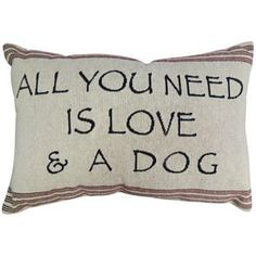 Park B. Smith ''Love & Dog'' Throw Pillow