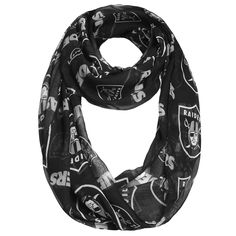Oakland Raiders Women's Team Logo Infinity Scarf