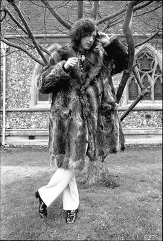 Jimmy Page and his fur
