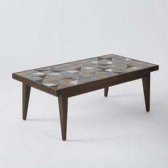 lubna möbel decor lubna chowdhary tiled coffee table bronze west elm diy inspiration for herringbone coffee herringbone mirror buy two 379 each 48