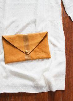 DIY Leather Clutch