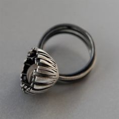 This website has expired – please contact Support if this is your website. Jewelry Art, Jewelry Rings, Fashion Jewelry, Jewelry Design, Jewellery, Black Rings, Silver Rings, Handmade Rings, Metal Clay