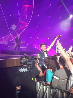 Adam Lambert in the crowd in Hamburg! RT @scubadan21: