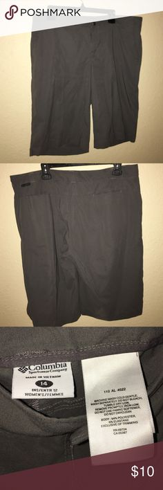 Columbia shorts Size 14 Columbia gray shorts. So comfortable and athletic wick away material. Awesome fabric! Columbia Shorts Bermudas