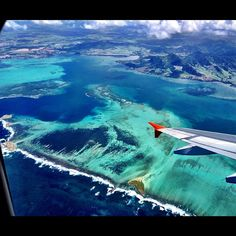 Beautiful Aerial View of Mauritius
