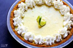 The best Key Lime Pie recipe -- simple, fresh, tart, sweet (but not too sweet), and completely delicious! A definite crowd-pleaser.