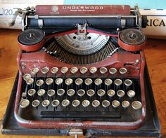 There is just something I love about typewriters! And the font itself!