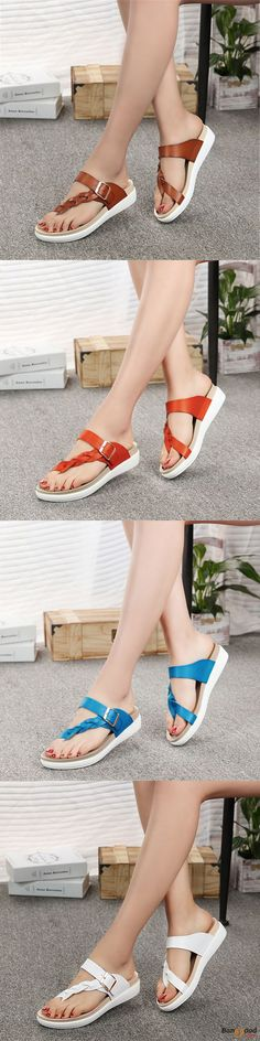US$28.99+Free shipping. Size(US): 5~12. Summer Sandals, Women Flat Sandals, shoes flats, shoes sandals, Casual, Outdoor, Comfortable. Color: Blue, Brown, Red, Orange, White. Heel Height: About 1.5cm. Platform Height: About 2.5cm.