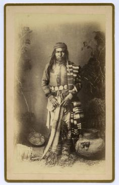 Chiricahua Apache prince, one of 28 photos from the collection Apache Indian portraits, ca. 1884. Photograph by A. F. Randall. Heard Museum, Phoenix, Arizona [RC6:13]
