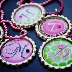Craft ideas using bottle caps necklace