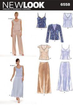 New Look Ladies Sewing Pattern 6558 Jacket, Tops, Skirt & Pants | Sewing | Patterns | Minerva Crafts